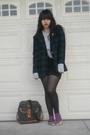 Gray-rubish-sweater-black-skirt-black-dkny-tights-purple-skirt-gold-gift