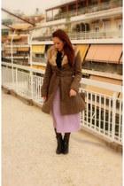 violet vintage knited skirt