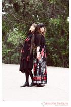 black jersey domonique echeverria dress - Vintage Halston jacket