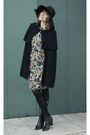 Gifted-boots-floral-print-vintage-dress-black-stolen-from-boyfriend-hat
