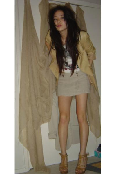 blazer - skirt - t-shirt