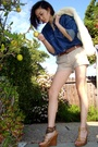 Blue-versace-shirt-white-jacket-brown-wwwfetishismetsycom-accessories