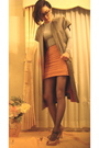 Gray-saks-cardigan-orange-huis-clos-brown-wwwfetishismetsycom-accessories