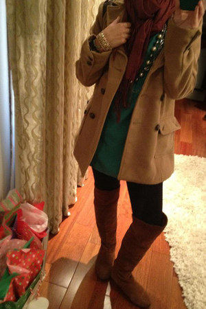 Chinese Laundry boots - Forever21 dress - Forever 21 coat - vintage necklace