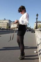 Vintage Gucci bag - American Apparel shorts - Anthropologie sunglasses - suede M