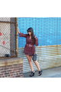 Red-converse-for-target-blouse-black-american-apparel-shorts-black-forever-2