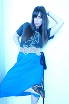 vintage t-shirt - American Apaprel dress - Jessica Simpson shoes - united colors