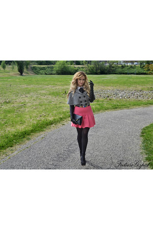 Terranova shirt - Primark purse - cinti heels - pink H&M skirt