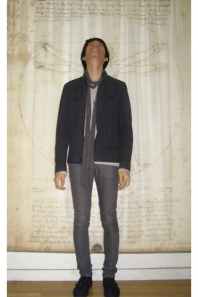 fink jacket - Rick Owens top - Pudel scarf - BDG top - april 77 jeans - Zig-Zag 