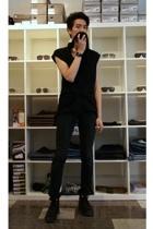 Diet Butcher Slim Skin top - DRKSHDW jeans - Fiorentini  Baker boots - Ed the Le