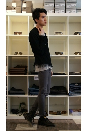 undercover top - Rick Owens top - april 77 jeans - Fiorentini  Baker boots