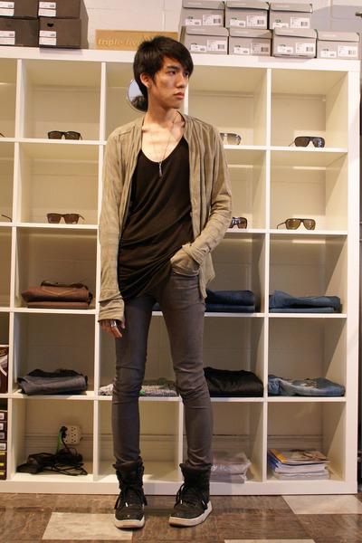 gray skinny april 77 jeans - black Diet Butcher Slim Skin shoes
