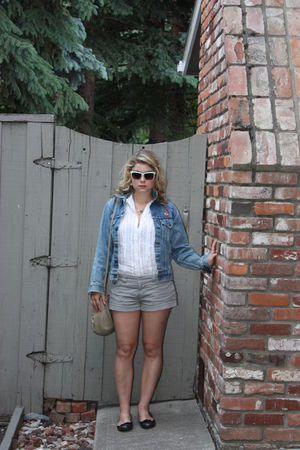 Levis jacket - joe fresh style shoes - American Eagle shorts - H&M sunglasses