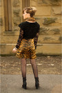 Bronze-leopard-print-vintage-from-ebay-skirt