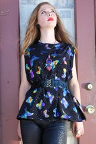 purple vintage from Ebay top - blue vintage from Ebay top