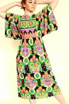 floral print vintage 70s dress