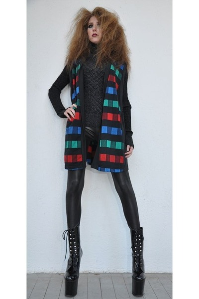 red checkered vintage from Ebay sweater
