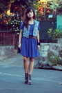 Heather-gray-soule-phenomenon-boots-navy-h-m-dress-navy-oasis-bag