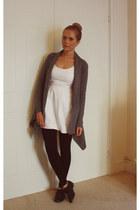 Primark cardigan - Dorothy Perkins shoes - Zara dress