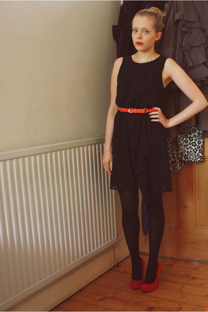 H&M dress - H&M belt - garage heels