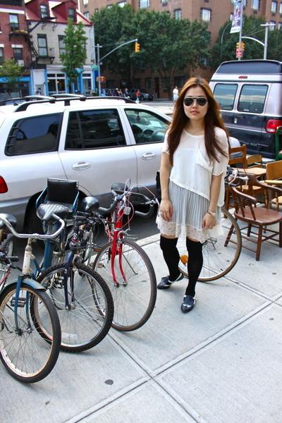The Reformation blouse - Victorias Secret dress - Marc Jacobs socks - vintage sh