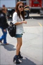 Larsen Gray blouse - H&M shorts - Chlo purse - Emma Cook for Topshop shoes