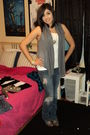 Gray-forever-21-vest-blue-hurley-jeans-gray-payless-boots