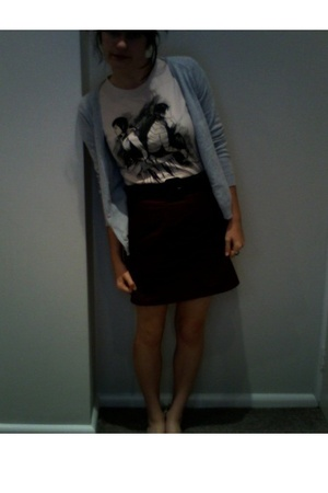 tegan and sara t-shirt - DIY skirt