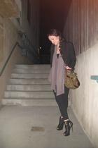 top - shoes - blazer - purse