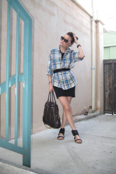 shirt - James Perse dress - american apparel lam bandeau belt - bought in the sa