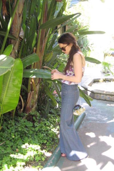 pucci top - 18th Amendment jeans - santee purse - forever sunglasses
