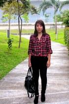 unknown brand bag - Zara jeans - f21 shirt - shoes
