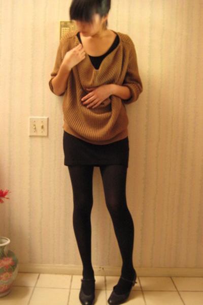 H&M dress - donna karen sweater