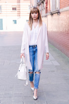 Daniel Wellington watch - River Island blazer - new look heels