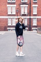 Cheap Monday jumper - Lazy Oaf bag - Topshop sandals - Topshop skirt