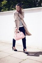 Nasty Gal coat - Missguided jeans - Marc B bag - French Connection heels