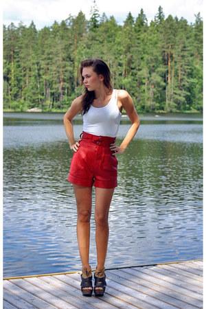 wooden heel Zara heels - Shakuhachi shorts