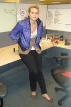 Xhilriation jacket - H&M jeans - forever 21 vest - Hanes t-shirt - Dollhouse sho