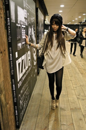Mango dress - Steve Madden boots - Zara coat