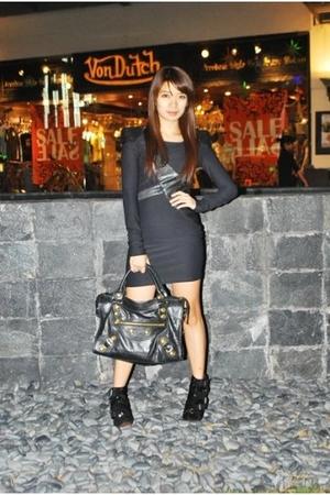black Coexist dress - black shoes - black accessories