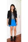 Blue-pink-manila-skirt-black-insidegiannesclosetmultiplycom-blazer-silver-so