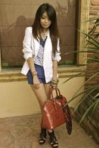 Zara blazer - LV bag - Zara shorts - Zara top - Zara heels