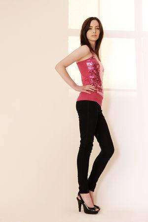 pink Primark t-shirt - black Newlook jeans - black next shoes