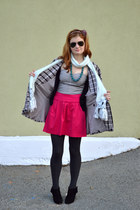 Guess skirt - Designed and made by me coat - Forever21 sweater - 8020 heels