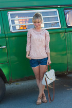 Anthropologie sweater - Urban Outfitters bag - Levis shorts