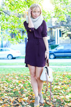 Anthropologie scarf - joe fresh style boots - Aritzia dress