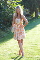 Club Monaco dress - Anthropologie bag - Nine West heels