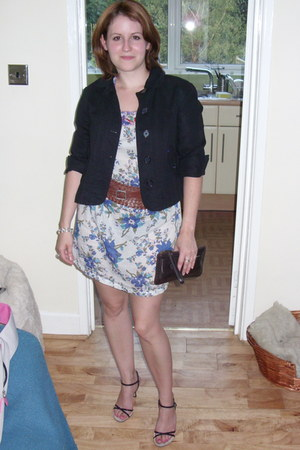 Zara dress - Gap jacket - charity shop belt