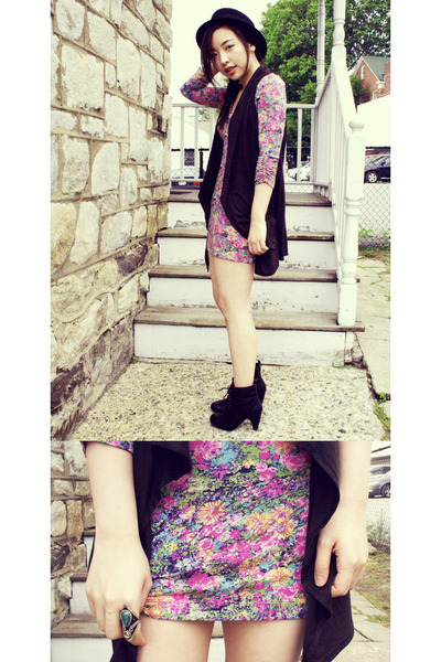 floral free people dress - Spring boots - Hallelu hat