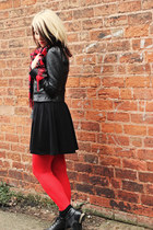 black new look boots - black Dorothy Perkins dress - black Miss Selfridge jacket